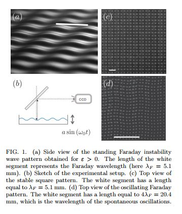 Faraday wave lattice as an elastic metamaterial